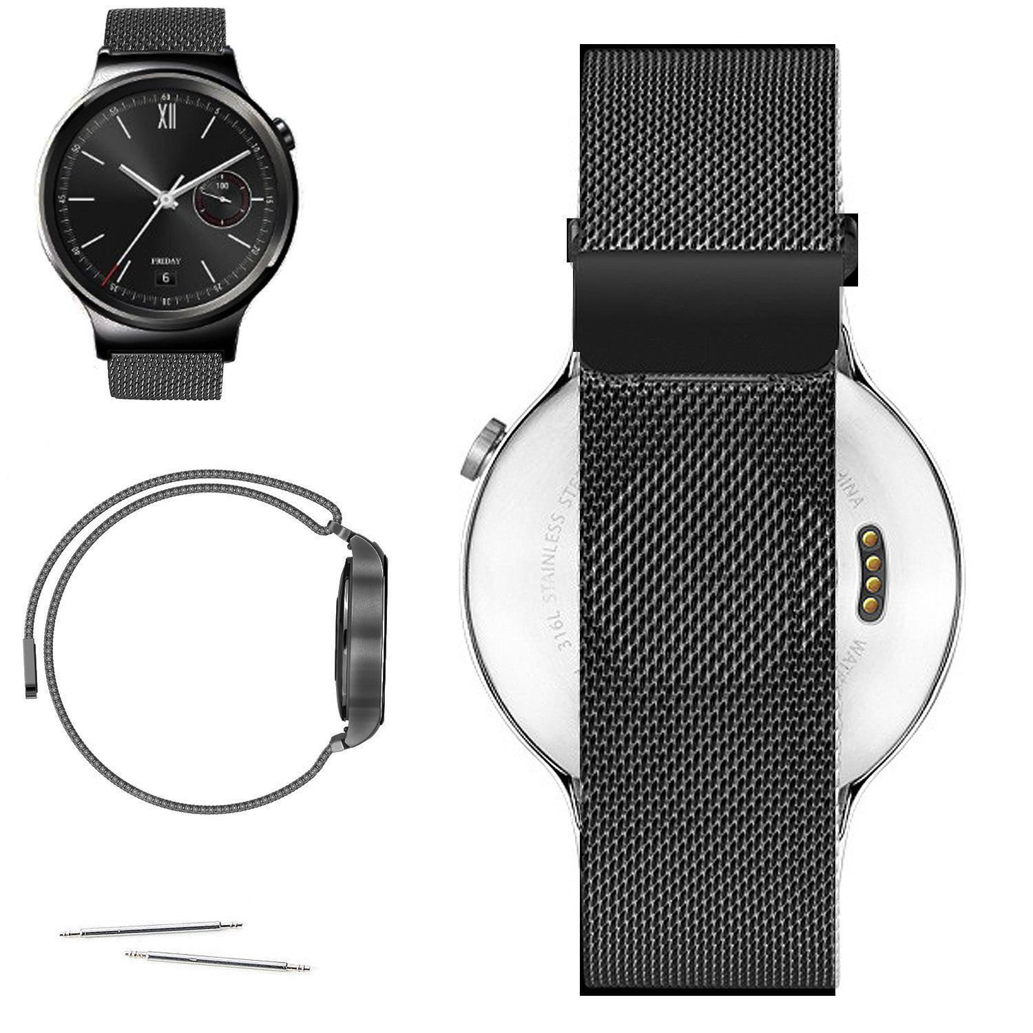 BESTeck For Samsung Galaxy Gear Sport/S2 Classic Smartwatch Replacement Band Stainless Steel Fully Magnetic Closure Milanese Bracelet SM-R732 SM-R735 ...