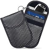 Faraday Bags,GICENT Faraday Bag for Key Fob (2 Pack) Car RFID Signal Blocking Faraday Pouch,Key fob Protector, Black Antithef