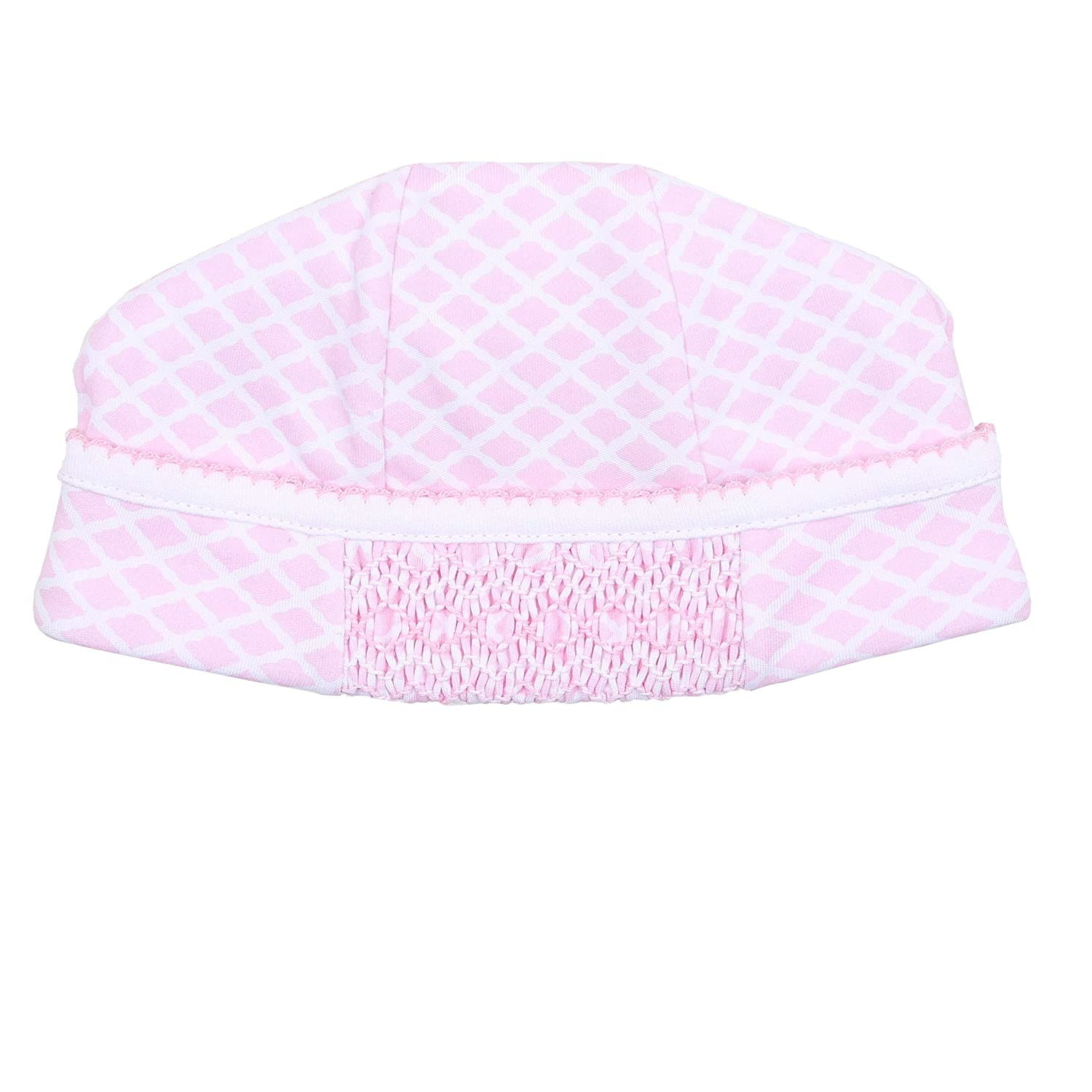 Magnolia Baby Baby Girl Elsie and Ezras Classics Smocked Hat Pink