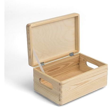 Sincla Cajas de Madera con Tapa (Pack de 3): Amazon.es: Hogar