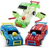 CHUCHIK Pull Back Cars Pack of 3 – Birthday Toy Car Set, Race Car Toys for Boys / Girls Age 3,4,5,6,7 – Smash Crash Race…
