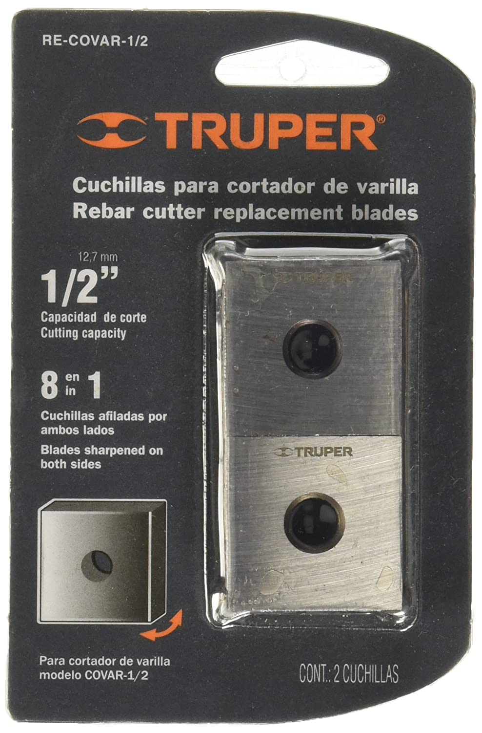 TRUPER RE-COVAR-1/2 Spare Blades for Rebar Cutters 1/2