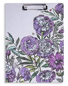 Vera Bradley Women's Clipboard Folio, Lavender Meadow