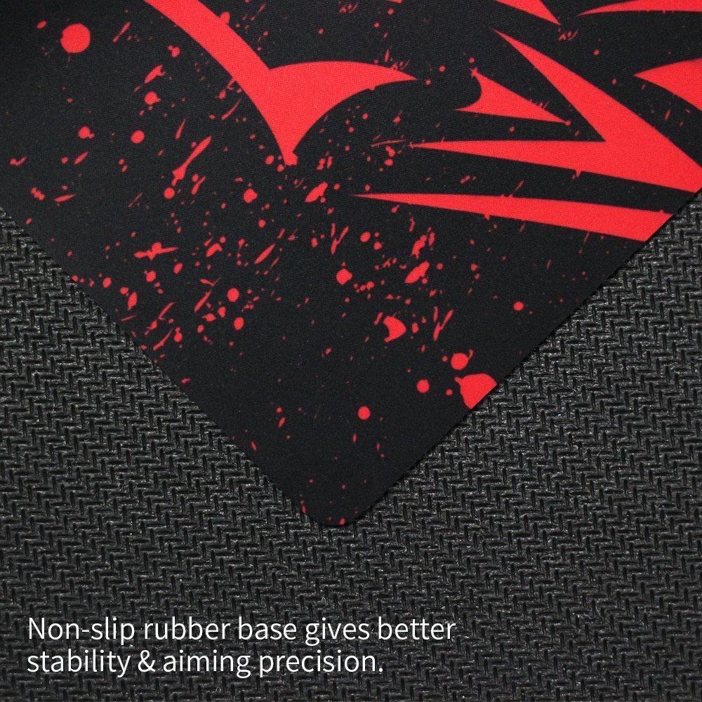 in gomma XL superficie liscia Exco spesso tappetino per mouse progettato per giocatori e lavoro dufficio tappetino da gaming antiscivolo