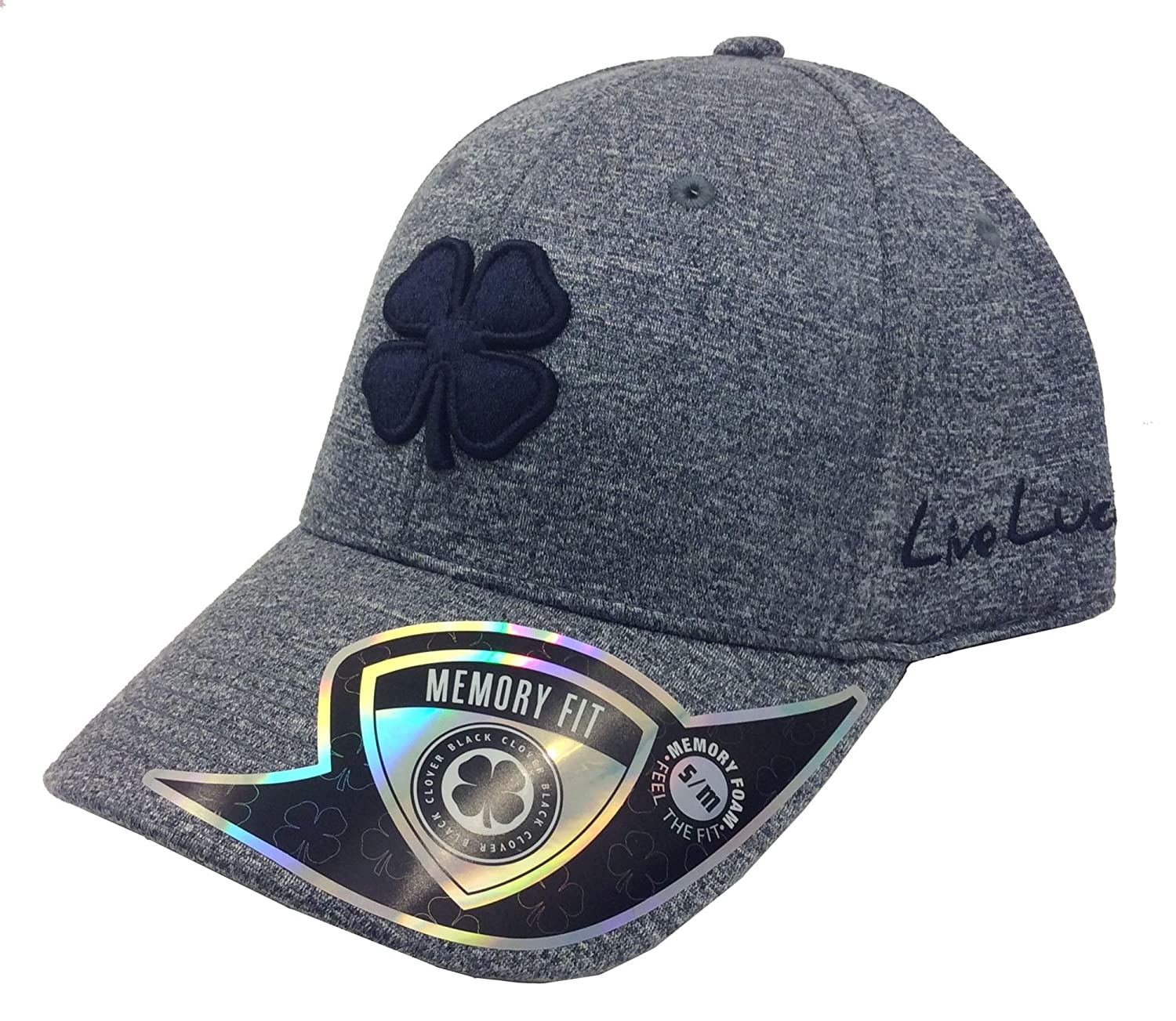 151a4447aa1d0 Black Clover Lucky Heather Denim Blue Memory Fit Hat-Navy Navy Heather-L XL  at Amazon Women s Clothing store