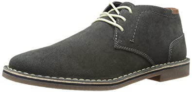 Men Casual Lace Up Suede Leather Desert Wind Chukka Boots US Shoe Size Gray NEW
