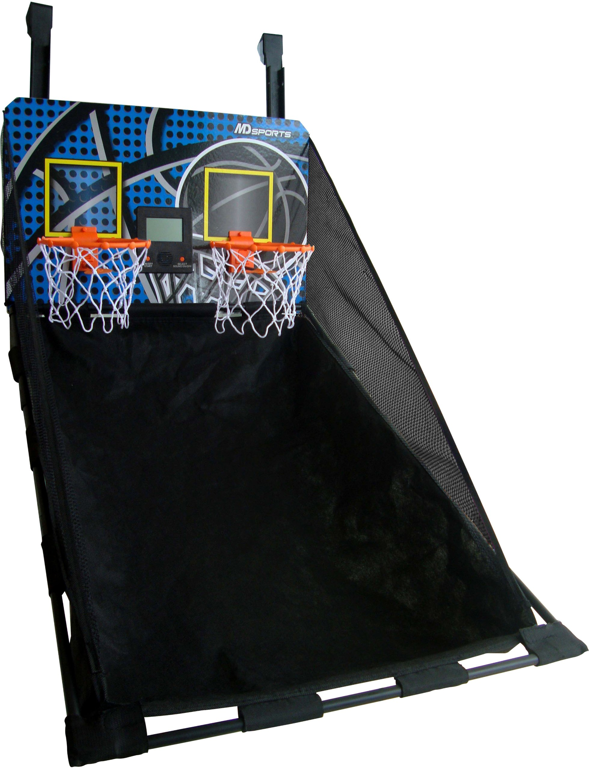 Medal Sports Door Hoops 2-Player Basketball Game Table, 34.5x22.125-Inch