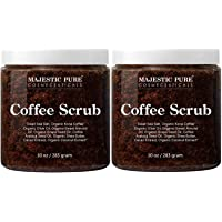 Majestic Pure Arabica Coffee Scrub - All Natural Body Scrub for Skin Care, Stretch Marks, Acne & Cellulite, Reduce the…