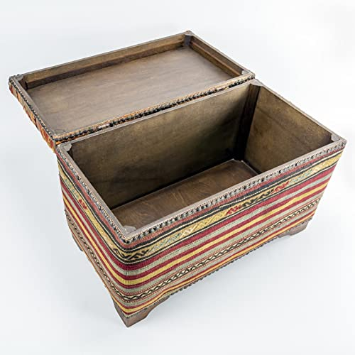 9c52a69b1 Amazon.com: ottoman chest - kilim pouf - EXPRESS SHIPPING: Handmade