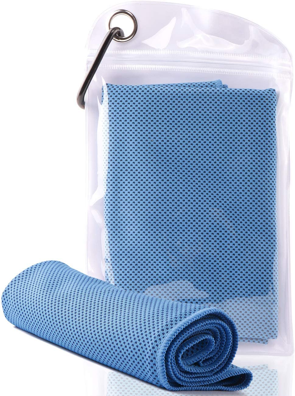 Cooling Towel - Chilly Microfiber Towel Ice Neck Wrap for Athletes Workout Sport Yoga Fast Dry