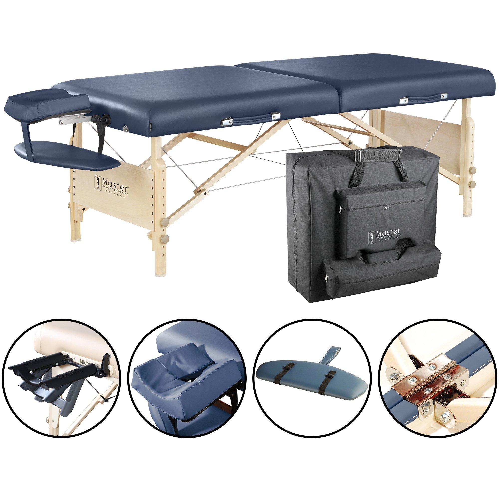 Master Massage 30'' Coronado Portable Massage Table Package, Royal Blue