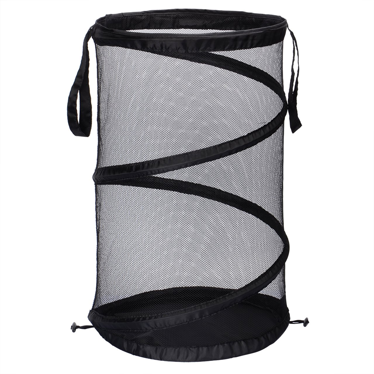 SortWise Foldable Pop-up Laundry Hamper, Durable Mesh Hamper Clothes Laundry Basket Storage Bag with Reinforced Carry Handles for Dirty Clothes, Toys