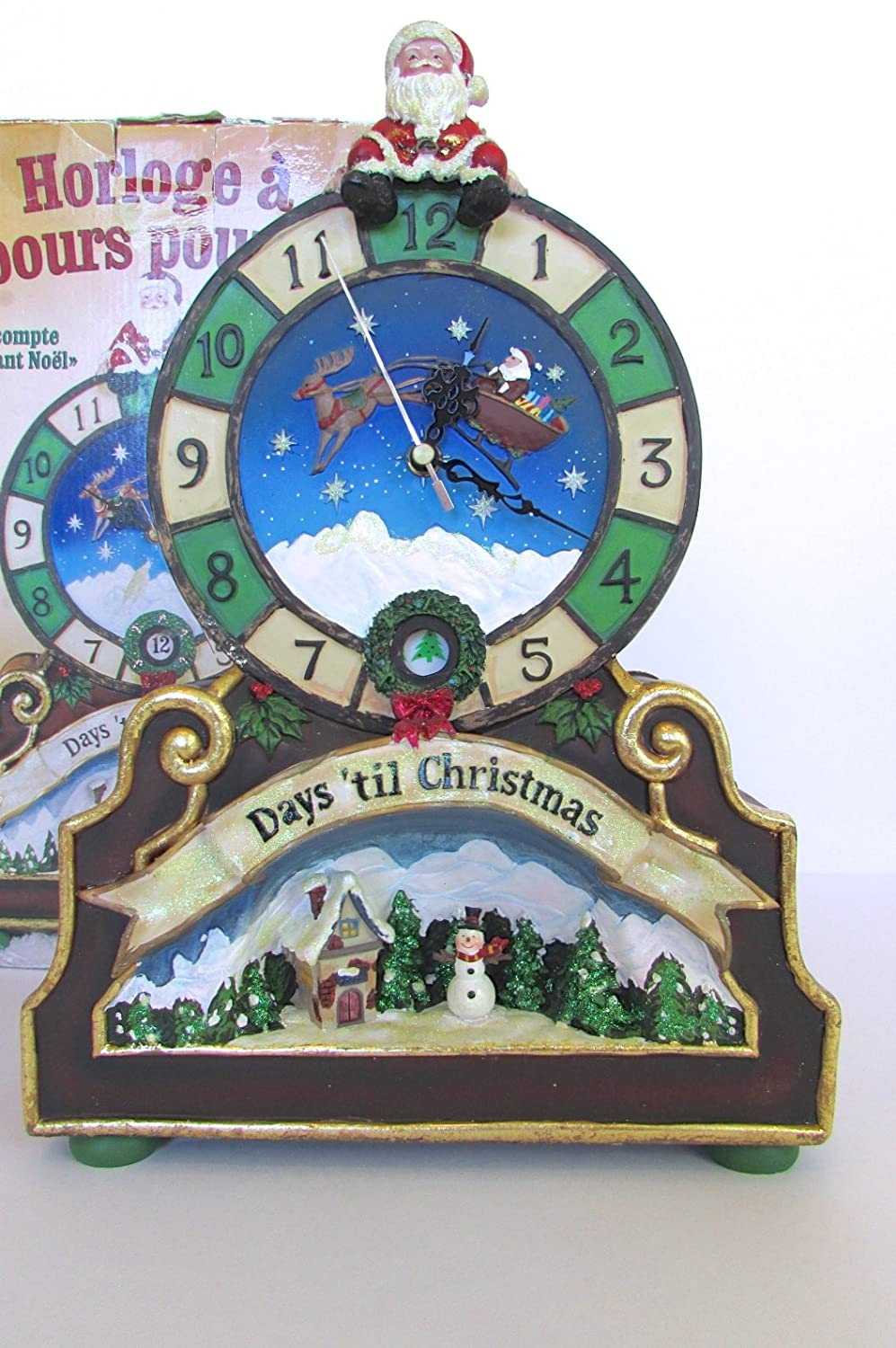 Countdown To Christmas Clock.Christmas Countdown Clock With 24 Days Til Christmas Counter