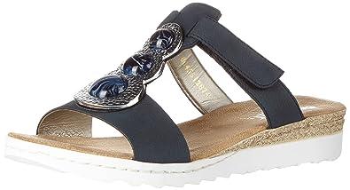 Schuhe Gr40 Schwarz Rieker Sandalen Super Damen Pantoletten