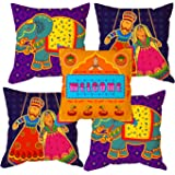 Aart HD Indian Tribal Cushion Cover - Set of 5