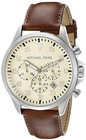 7eea52f935eb Amazon.com: Michael Kors Men's Gage Brown Watch MK8441: Michael Kors ...