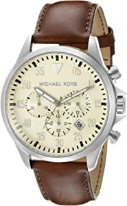 Michael Kors Gage Watch for Men - Analog Leather Band - MK8441