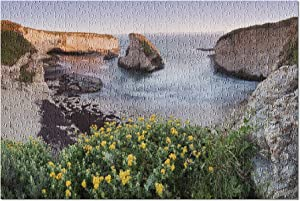 Davenport, Santa Cruz County, California - Panoramic View Over Shark Fin Cove at Sunset 9021698 (Premium 500 Piece Jigsaw Puzzle for Adults, 13x19, Made in USA!)