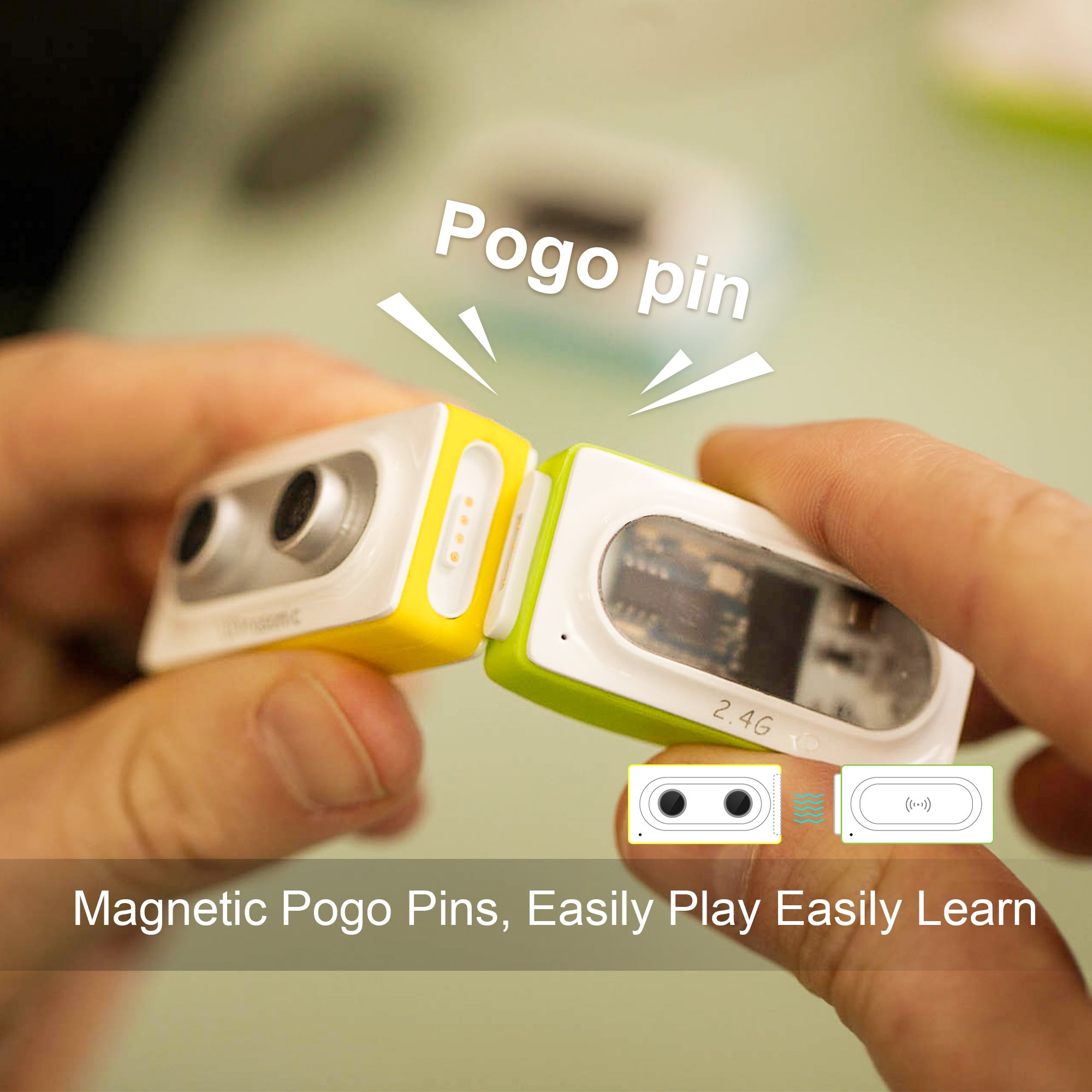 Makeblock Neuron Inventor Kit, STEAM Education, Graphical Programming, Magnetic Pogo Pins for 6 Year & up Kids+ with 6 Basic Blocks, Over 10 Kinds of Funny Robots, Like Rabbit,Dashing Raptor by Makeblock (Image #3)