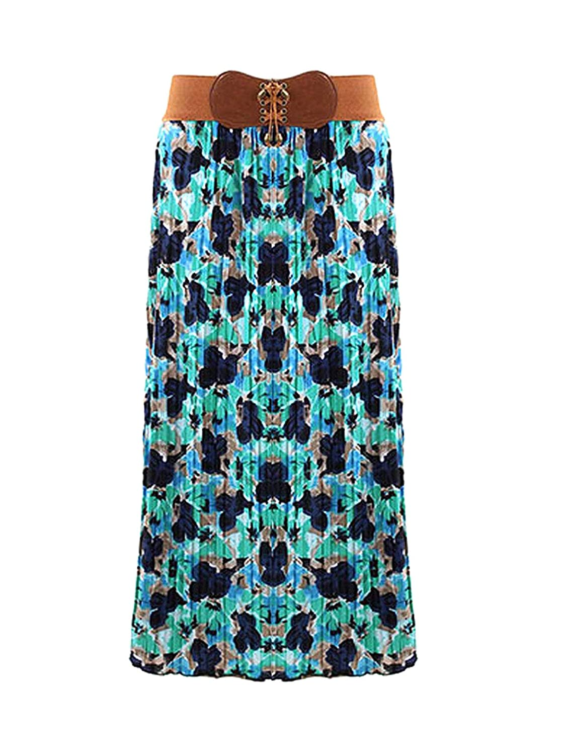 G2 Chic Womens Printed Patterned Casual Fun Long Maxi Skirts