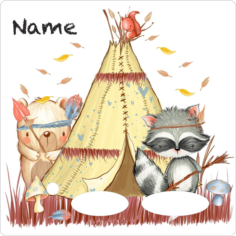 Coverlounge/® Schutzfolie passend f/ür die Toniebox und Ladestation mit Namen personalisiert Baby Fuchs mit Buchstabe F