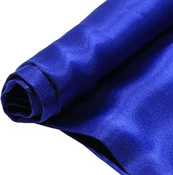 قماش حرير ستان , 44 انش x 25 ياردة , ازرق