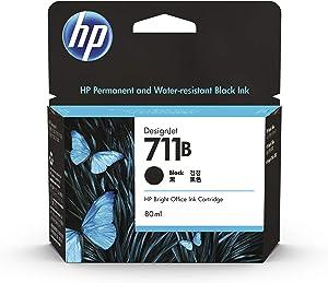 HP 711 Black 80-ml Genuine Ink Cartridge (CZ133A) for DesignJet T530, T525, T520, T130, T125, T120 & T100 Large Format Plotter Printers
