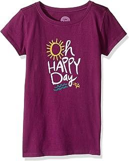 38bd63c52c9 Amazon.com  Life is Good Girls  Flip Flops Sun Crusher Tee (Little ...