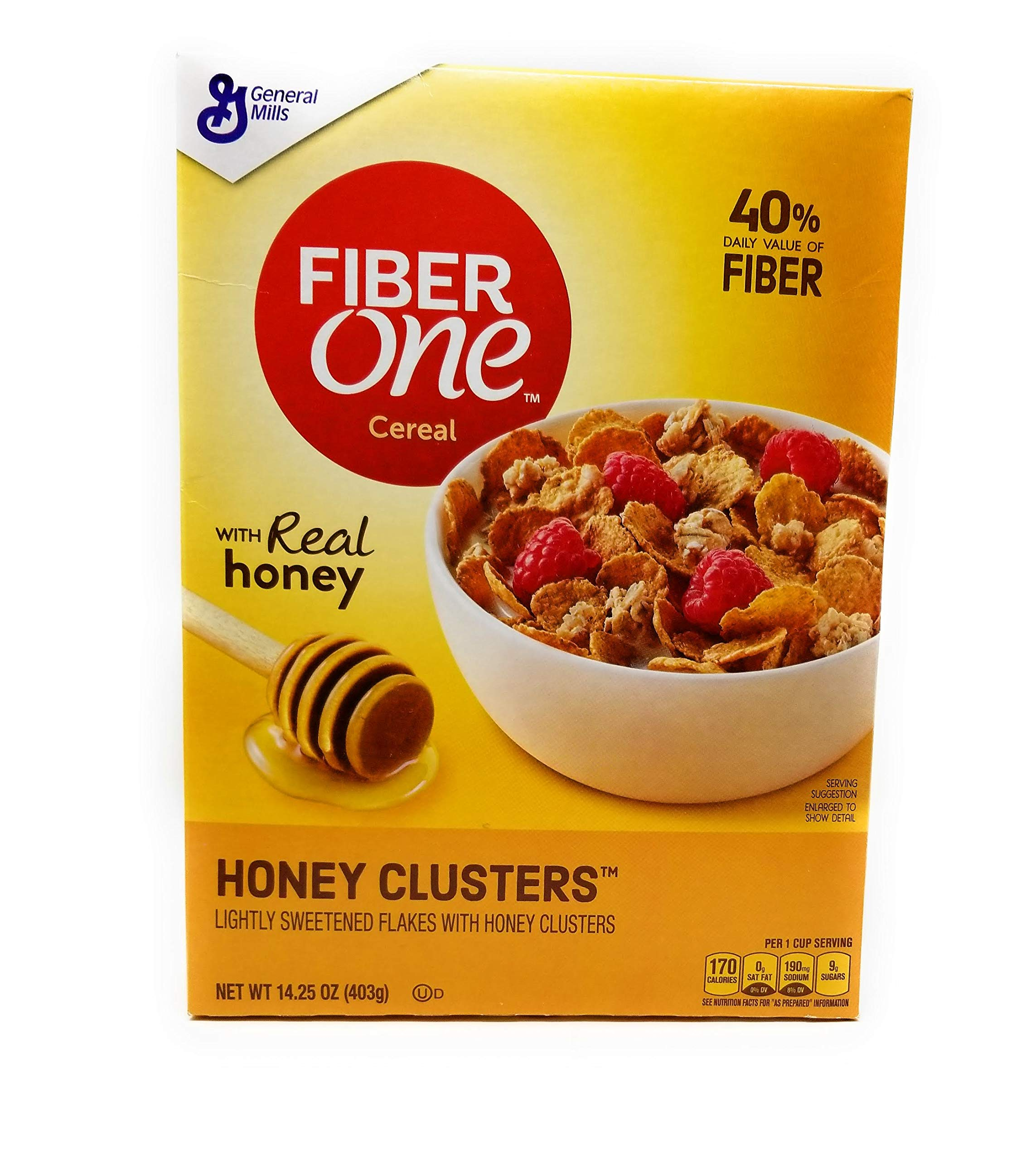 Fiber One Honey Clusters, 14.25oz Box (Pack of 4)