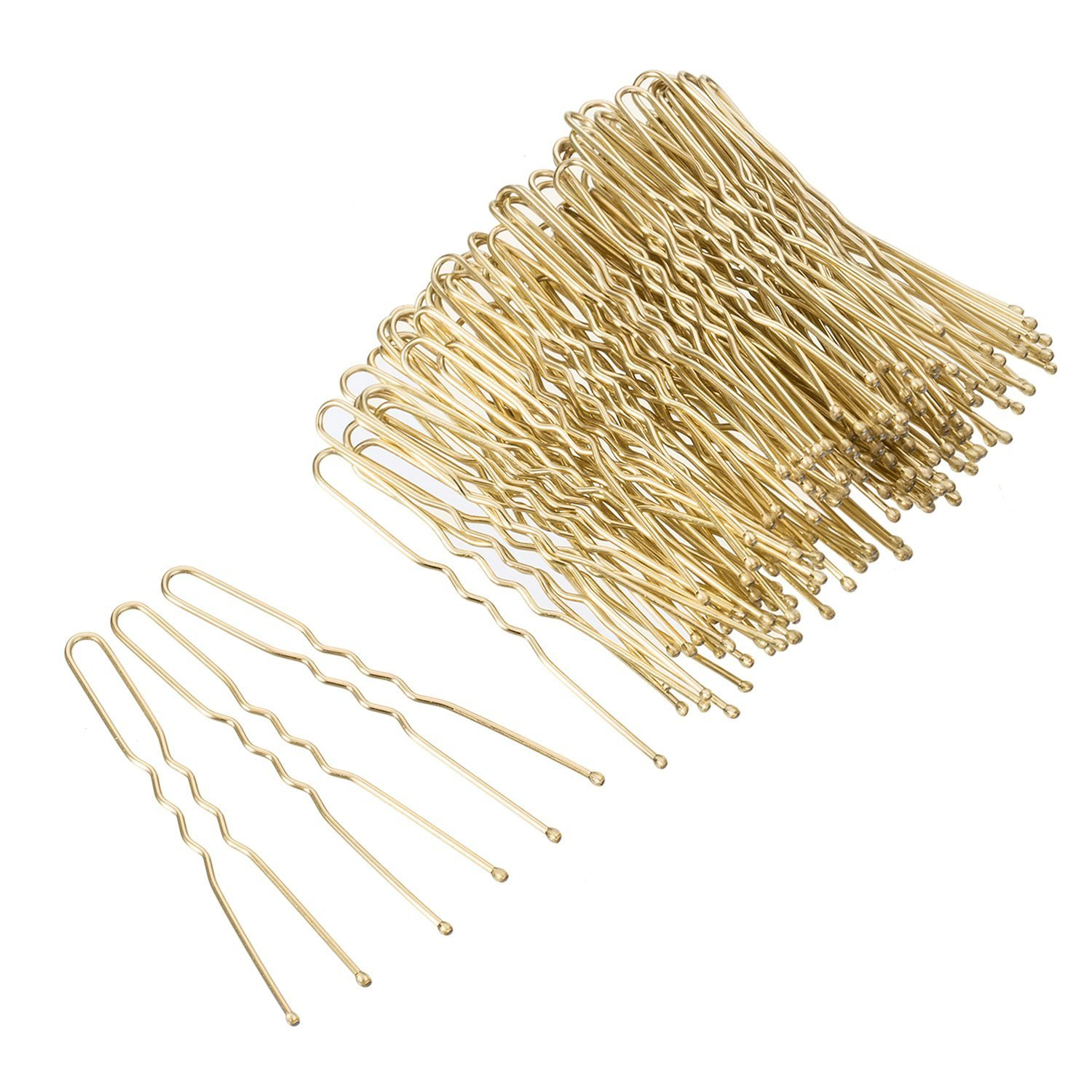 Free Shipping Blonde Waved Hair Bobby Pins Grips Clips Bobby Pins U Shape Hair Clips Hair