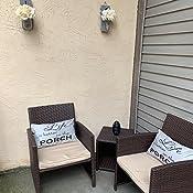 Amazon.com: OC Orange Casual - Juego de muebles de mimbre ...
