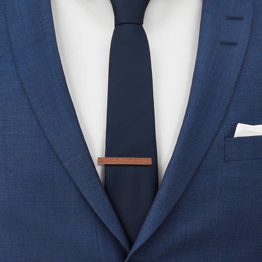 Tie Bar Pin Clips de Corbata de Madera y Metal de Cobre para Regalos de Boda para Hombre Regalos de Corbata de Abrazadera Anfly Mens Tie Clip//Pin