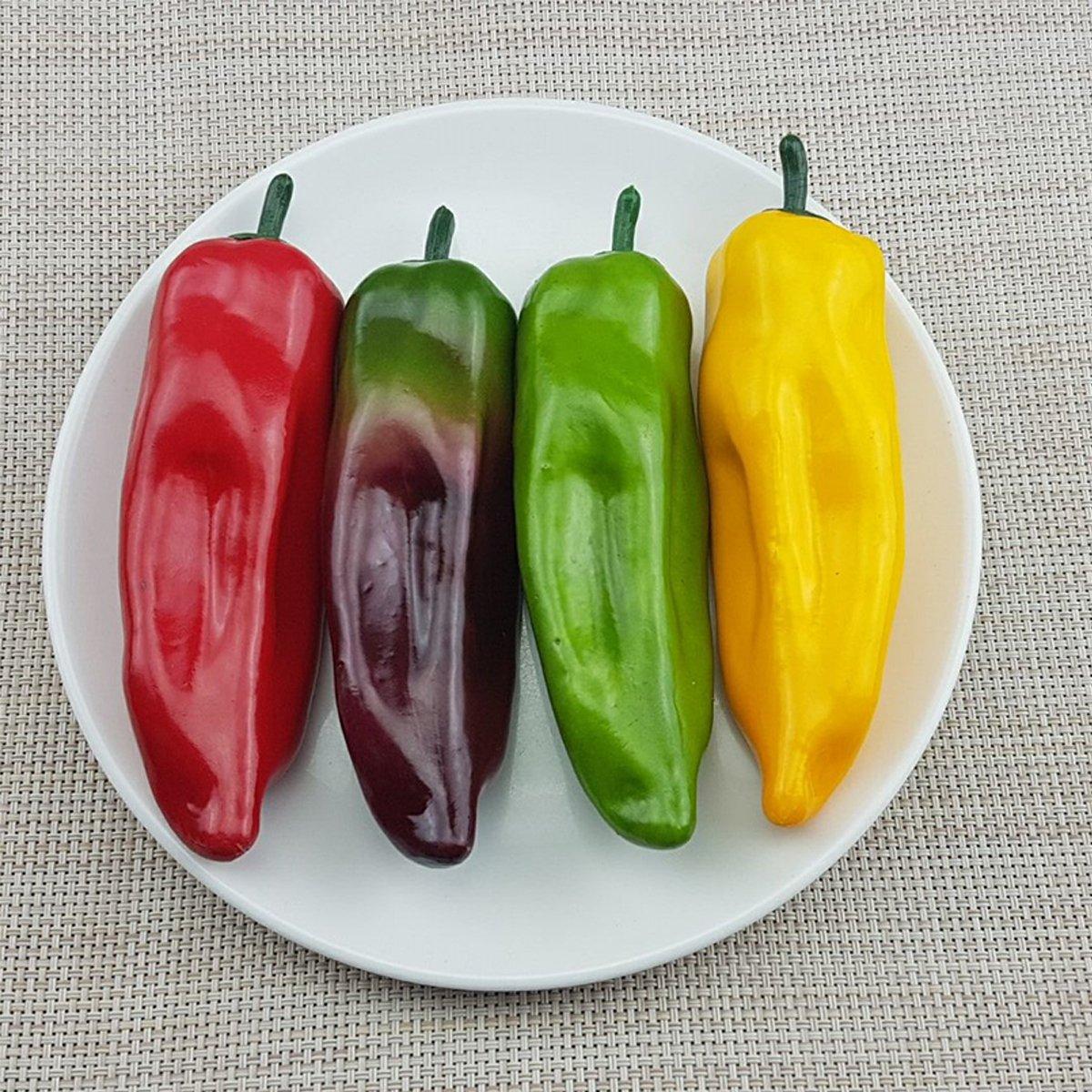 WINOMO 10 St/ücke K/ünstliche Pfeffer Chili Dekoration Gef/älschte Fr/üchte Obst