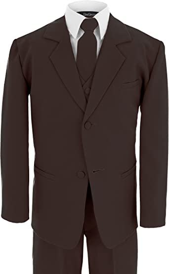 Gino Giovanni Boy Double Breasted Formal 5 Piece Dress Suit Set