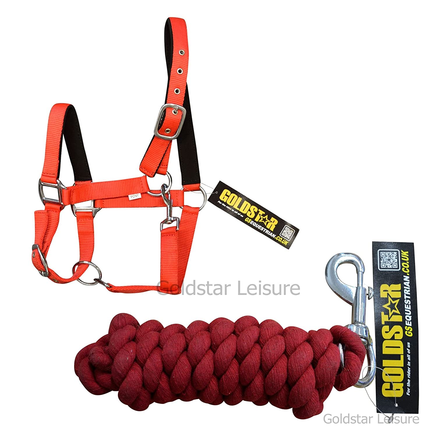 GS Equestrian Padded Head Collar & Lead Rope GSE115-GSE125