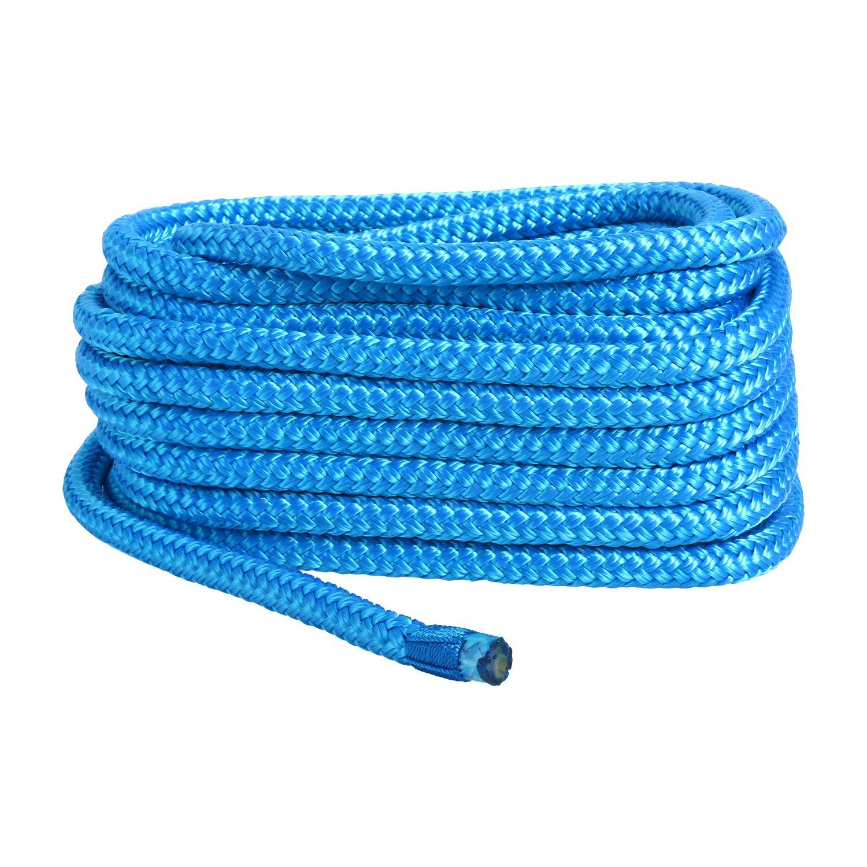 Blue White//Gold Alfa Marine Amarine Made 1//2 Inch 35 FT Double Braid Nylon Dockline Dock Line Mooring Rope Double Braided Dock Line Cadet Blue Red shanghai Color: Black Ltd Co White