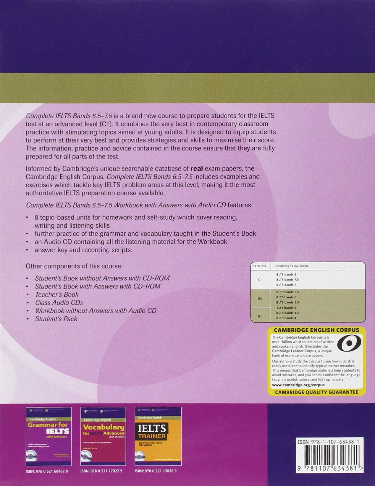 Complete ielts bands 65 75 workbook with answers with audio cd complete ielts bands 65 75 workbook with answers with audio cd cambridge english amazon rawdon wyatt fremdsprachige bcher fandeluxe Images