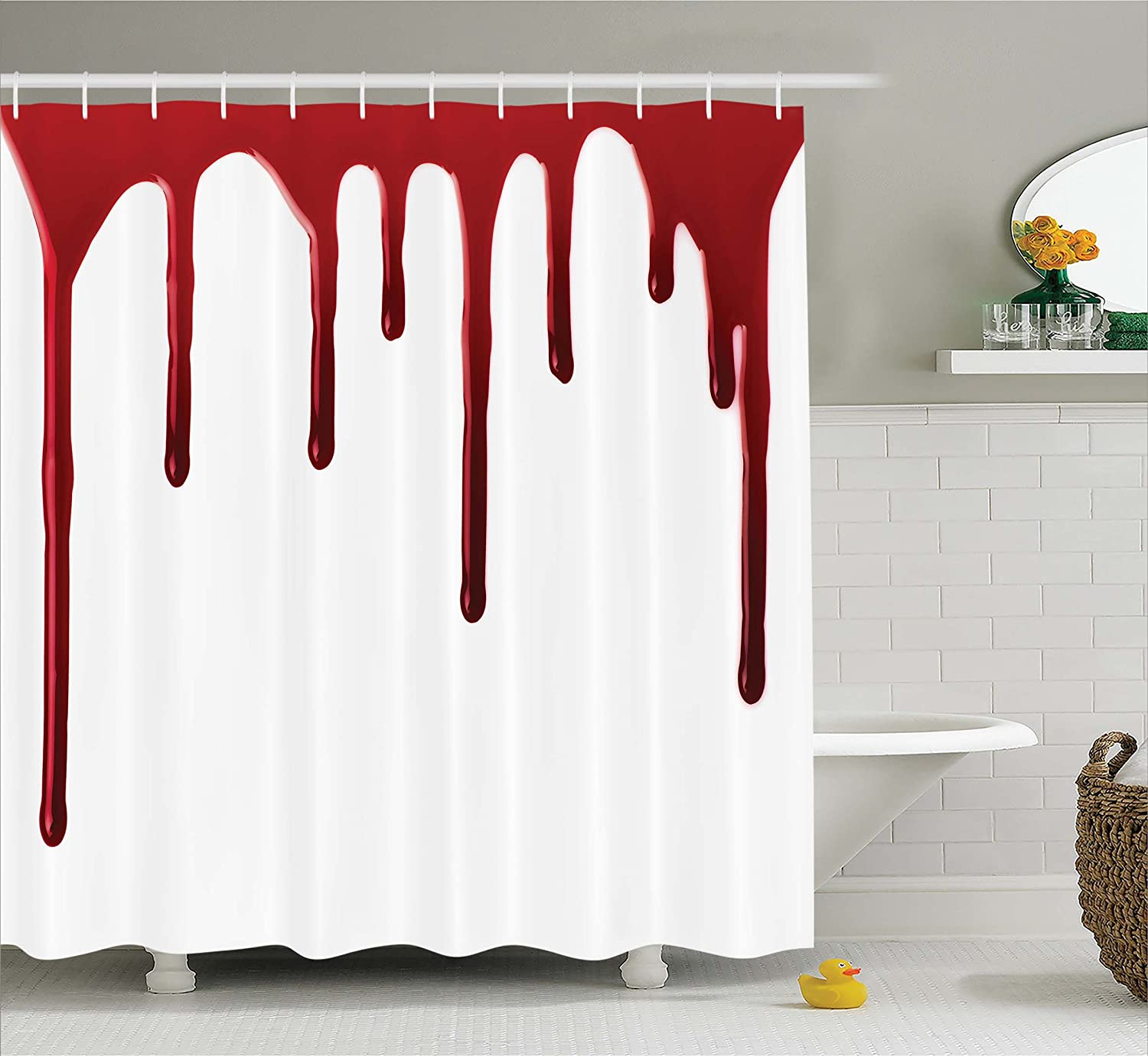 Halloween shower curtains fun and creepy designs for Halloween bathroom ideas