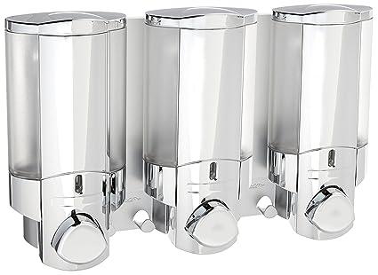 Better Living Products 76345 1 AVIVA Three Chamber Dispenser, Chrome