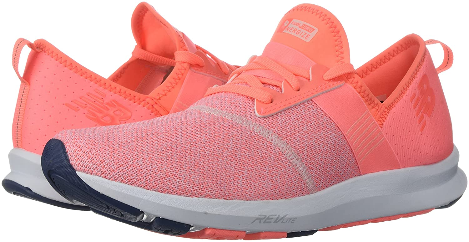 New Balance Women's FuelCore Nergize V1 Fuel Core Cross Trainer B005ATPHNQ 65 D US|Fiji/White