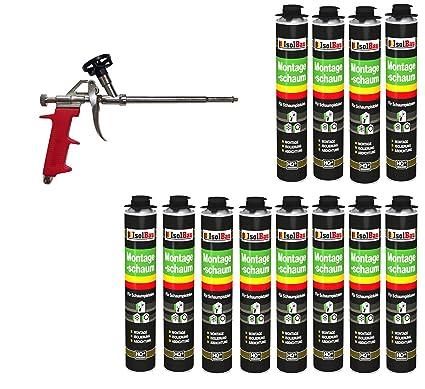 Set pistola de espuma 12 latas 750 ml Espuma de montaje 1 K Diseño Espuma de
