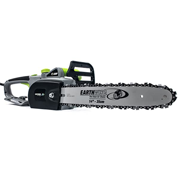 Earthwise CS31014 14-in 9-Amp Corded Electric Chainsaw, 14-Inch, 9