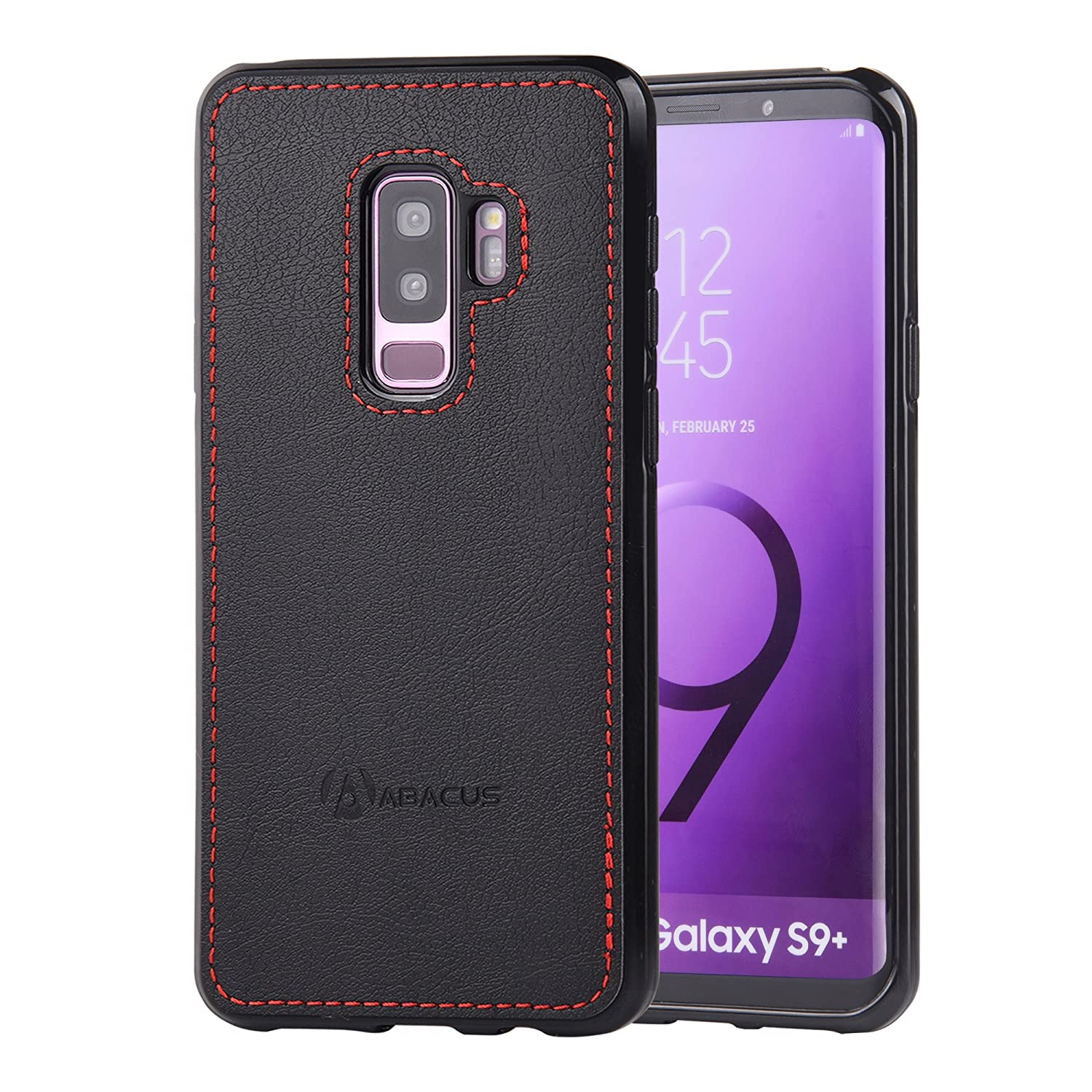 outlet store f2434 2aac4 Abacus24-7 Samsung Galaxy S9 Plus Case, Slim Bumper Back-Protection S 9+  Cover, Black