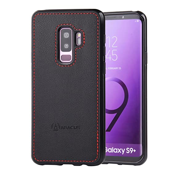 outlet store fff23 a6866 Abacus24-7 Samsung Galaxy S9 Plus Case, Slim Bumper Back-Protection S 9+  Cover, Black