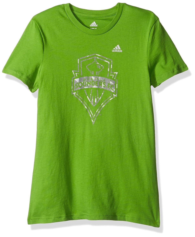 【全商品オープニング価格 特別価格】 Seattle Sounders FC FC Girlsグリーン液体シルバーShine (14) Tシャツ B01MUHI60F Large (14) B01MUHI60F, 大東市:681c134b --- a0267596.xsph.ru