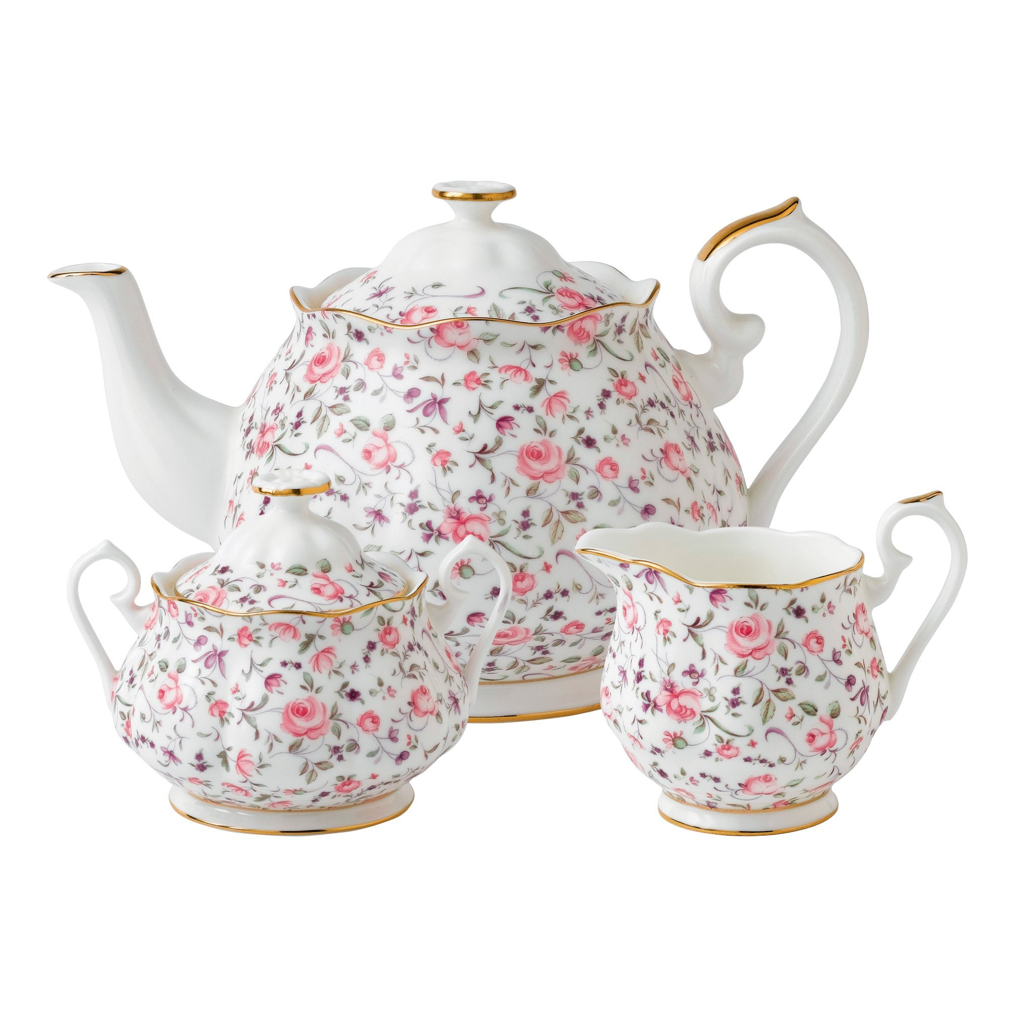 Royal Albert 8704025823 New Country Roses Rose Confetti Teaset, 3-Piece by Royal Albert