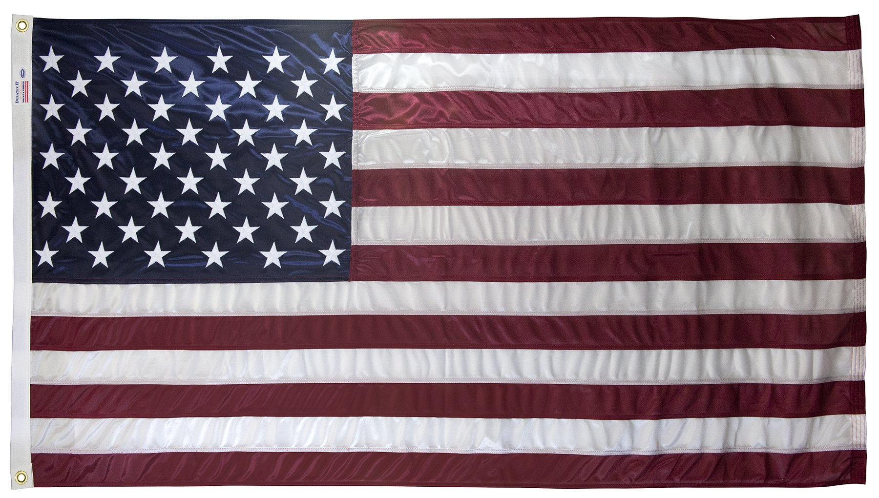 4x6 Foot U.S. American Flag Valley Forge Flag Duratex II Poly Commercial Fully Sewn by WindStrong®