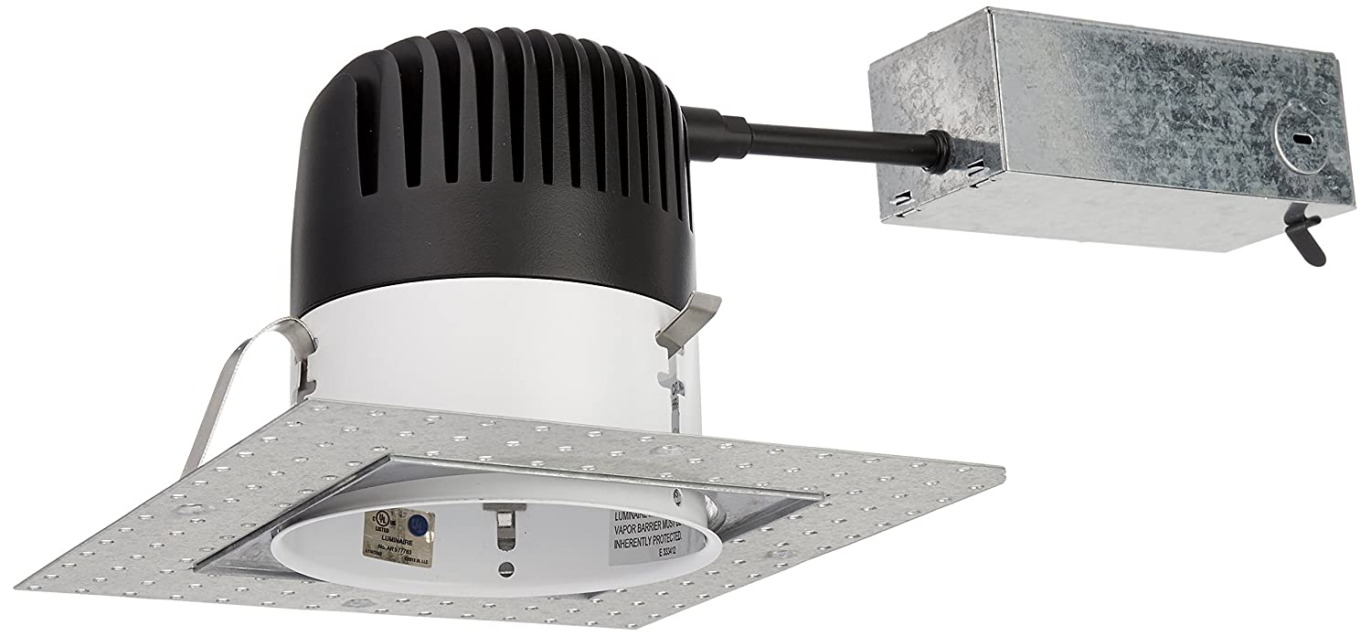Wac lighting hr hl 4 low voltage new construction housing recessed can light - Wac Lighting Hr Led418 Ric Sq27 Ledme 4 Inch Recessed Downlight Remodel Invisible Trim Ic Rated Housing 2700k Recessed Light Fixture Housings