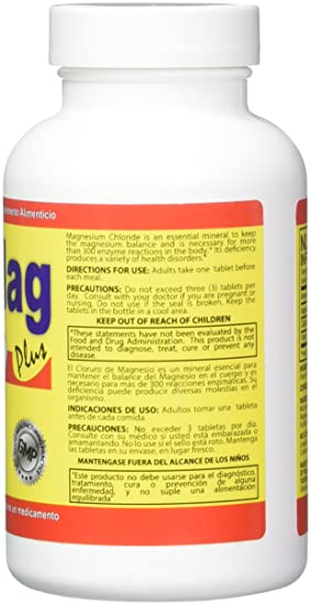 Amazon.com: Cloru-Mag Plus - Magnesium Chloride - 140 tablets (Cloruro de Magnesio): Health & Personal Care