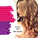 SGM Medium Size Magic Spiral Hair Curler Rollers (9 Pieces -30 Cm & 9 Pieces - 50Cm Length)